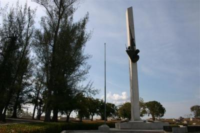 Monumento a los mártires del 5 de septiembre en el cementerio Tomás Acea